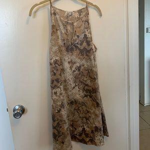 Snake Print Halter Dress